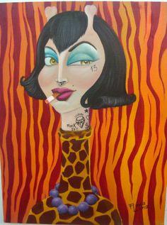 #girafa #fuckit #painting #oiloncanvas #flavialima
