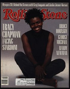 1988 Vintage ROLLING STONE Magazine COVER ONLY - TRACY CHAPMAN