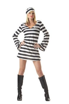 Sexy Convict Chick Adult Womens Halloween Costume #CompleteCostume