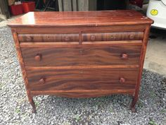 Unwanted dresser turned into beautiful bench