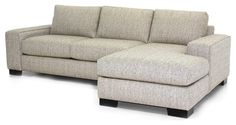 Melrose 2PC Sectional Sofa, Smoke, 107x65x28, Chaise on Left modern-sectional-sofas