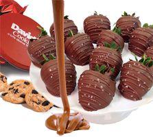 Chocolate strawberries, Strawberries and Davids cookies on Pinterest