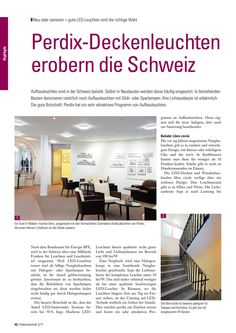 PERDIX Deckenleuchten erobern die Schweiz Led, Engineering, New Construction, Ceiling Lights, Switzerland
