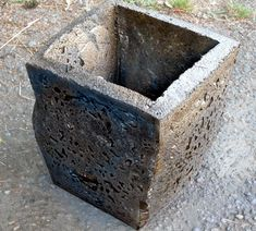 How to make a planter that looks like concrete!