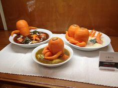 Bathing carrots in dishes