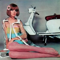 Jean Shrimpton - 1967 Lambretta Calendar