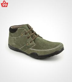 Step in #Style with ultimate pick of this season when you adorn this pair of Bacca Bucci Suede Leather Olive Casual Shoes