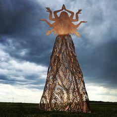 Fusion steel sculpture