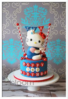 Hello Kitty Cake and desserts - by BloomCakeCo @ CakesDecor.com - cake decorating website