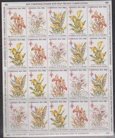 SA Christmas 1982 - Full Sheet Of 20 Stamps