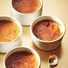 Maple-Gingerbread Pots de Crème -- looks like creme brûlée to me ... But I digress ...