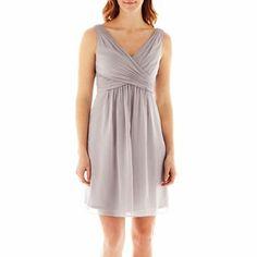 Simply Liliana Sleeveless Chiffon Fit-and-Flare Dress