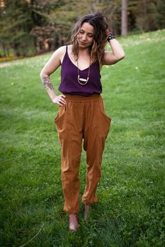 Women's pants sewing pattern. Use Rayon, tencel, lyocell