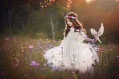 """Find and save images from the """"little princess 🌸"""" collection by Lisset Reyes (lissetxoxo) on We Heart It, your everyday app to get lost in what you love. Whimsical Photography, Little Girl Photography, Fantasy Photography, Children Photography, Fairy Photoshoot, Fairies Photos, Foto Baby, White Doves, Foto Pose"""
