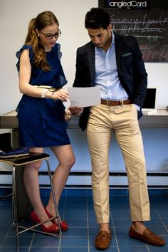 """""""Business Casual with Style"""" Spring/Summer Edition, featuring Marwan Helal & Pearl White. Great for the teacher look."""