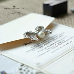 Take a bow wedding invitation www.bohemiandreams.co.uk