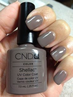My color this week: CND Shellac Rubble. Yay, this is my current shellac. Shellac Nail Colors, Gel Nail Varnish, Cnd Nails, Cnd Colours, Shellac Nails Fall, Gel Polish, Love Nails, How To Do Nails, Pretty Nails