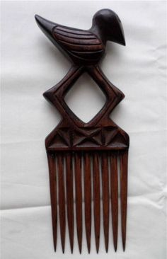 A CHOKWE TRIBE, ZAMBIA HAIR COMB. Antique African Carved Wood Hair Comb(1) in Antiques, Ethnographic Antiques, African   eBay Modern Hairstyles, African Hairstyles, Black Hairstyles, Afro Comb, Tribal Hair, African Accessories, Hair Flow, African Design, Hair Sticks