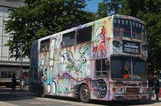 Gloucester Paint Jam 2-3 August 2014 #streetart #Graffiti Festival King's Walk Rusty Alexander Traveling Art Gallery
