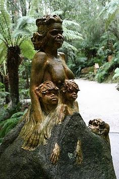 More William Ricketts Sanctuary sculptures, Dandenongs, Melbourne