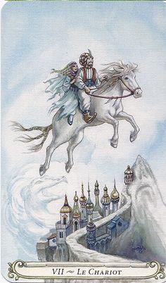 The Chariot - The Fairy Tale Tarot by Lisa Hunt The Chariot Tarot, Tarot Major Arcana, Vladimir Kush, Lisa, Tarot Readers, Arabian Nights, Oracle Cards, Tarot Decks, Tarot Cards