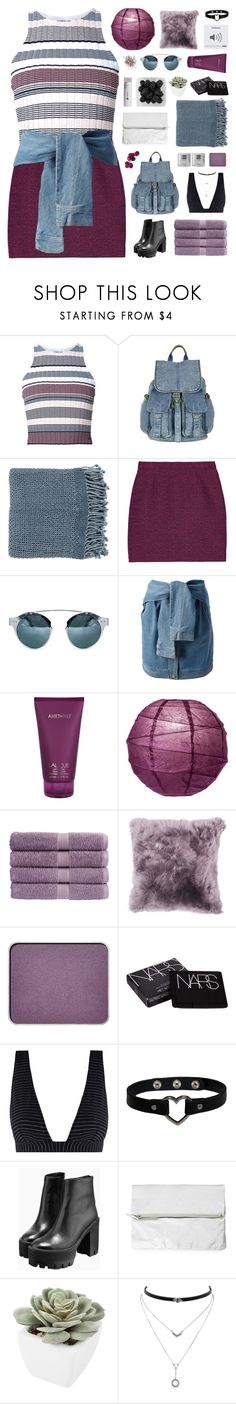 """it's none of your business"" by via-m ❤ liked on Polyvore featuring Elizabeth and James, Topshop, Surya, Proenza Schouler, DKNY, Lalique, Christy, shu uemura, NARS Cosmetics and Zimmermann"