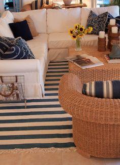 Nautical Living Room | Catherine Alexandra Design