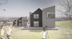 Modern Barn on the hill designed by FAAR architekci Modern Barn, Louvre, Building, Design, Buildings, Construction