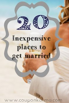 Bride on a Budget - 20 potentially free or cheap places to get married.