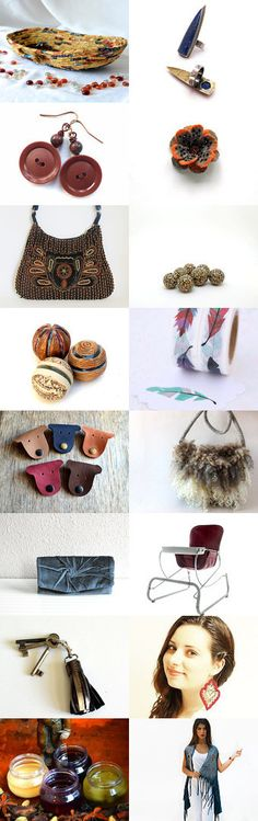 Lovely Etsy Treasury by Whimzingers with unique handmade gifts... Cute Desk Accessory Basket for pens and pencils.... Monday Sundries by Julia on Etsy--Pinned+with+TreasuryPin.com