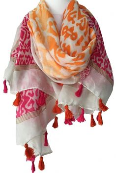 Spotty Brown and tan reversible pashmina scarf scarves shawl wrap present gift
