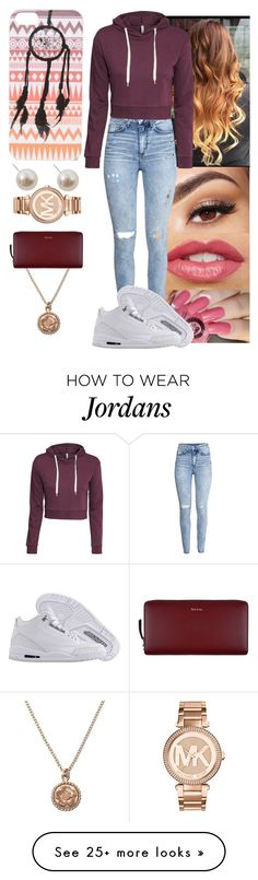 """"" by yanniixo on Polyvore featuring Lancôme, With Love From CA, H&M, NIKE, Alex Monroe, Paul Smith, Humble Chic and Michael Kors"