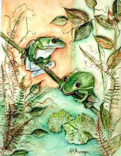 Two Frogs ~ Rosemary Hozempa