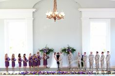Stunning pops of purple accent the simple elegance of the Old Whaling Church. Photo by Allegro Photography, via Flickr