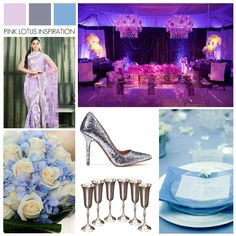 Lilac Silver and Blue Wedding Inspiration - Pink Lotus Events ** Perfect Color Combination **