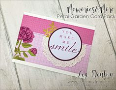 Petal Garden Memories & More new from Stampin' Up! Card #2 #cardpack #freshfig #leadenton #stampinup #stampinupdemonstrator #thecraftyspark calypso coral easy Memories and More Petal Garden super simple speedy cards