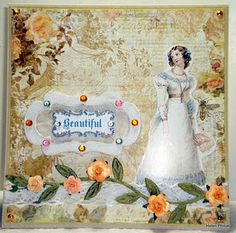 Card maker...some vintage; also some using Marianne's items
