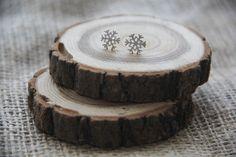 Серьги-снежинки посеребренные #серьги #снежинки #рождество #новыйгод