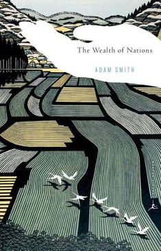 "If there were a prize for best new cover for a really old book, this Wealth of Nations cover would win. Beautiful woodcut plus the ""invisible hand of the market"" conveys the grandeur & core of the book. Design by Emily Mahon, woodblock by Ray Morimura"