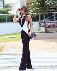 Uploaded by Isabella. Find images and videos on We Heart It - the app to get lost in what you love. Look Fashion, Fashion Outfits, Womens Fashion, Fashion Design, Jumpsuits For Women, Blouses For Women, Casual Outfits, Cute Outfits, Jumpsuit Dressy