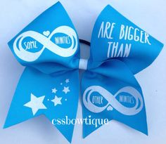 Hey, I found this really awesome Etsy listing at https://www.etsy.com/listing/193424052/infinity-cheer-bow