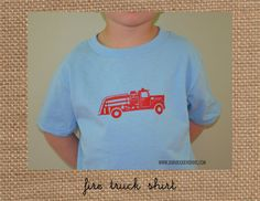 FIRE TRUCK Shirt you choose the colors by BabadooStationery, $21.95