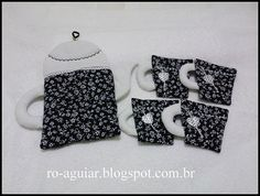 conjunto para servir café (preto) by Ro-Aguiar, via Flickr