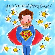 You're my Hero, dad - Blond Amsterdam Blond Amsterdam, I Love My Dad, Father's Day Diy, Happy Fathers Day, Happy Mothers, Mother And Father, Birthday Wishes, My Hero, Dads