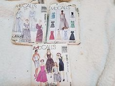 Vintage McCalls Patterns Lot of 3  Formal Dress Assorted Sizes