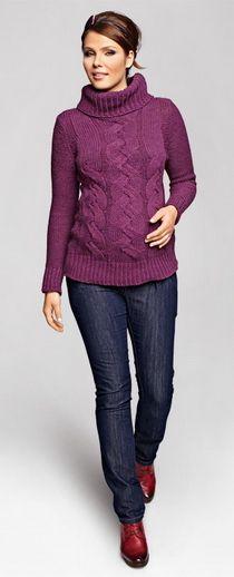 Nico jeans, jeansy ciążowe Pregnancy Jeans, Maternity Jeans, Turtle Neck, Sweaters, Fashion, Moda, Fashion Styles, Sweater, Fashion Illustrations