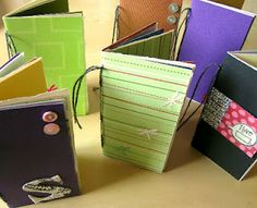 UPCYCLE your Old Greeting Cards!!! Make pretty journals, with lots of different papers and the greeting cards! (I think this would be a fun way to get an art journal started, all your artsy folk out there!)