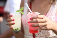 neon pink + summer drinks