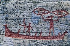 Norway, Alta, cave paintings of 6000 years old