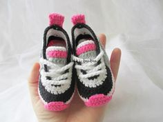 Crochet Baby Booties Crochet baby sneakers crochet ♡ by BUBUCrochet